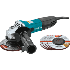 Makita 4‑1/2 in. Angle Grinder with 5 Wheels