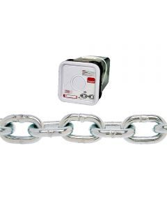 Proof Coil Chain, 5/16 in Chain, 1900 lb Load, 30 Grade, 1.27 in. x 0.47 in Inner (Sold Per Foot)