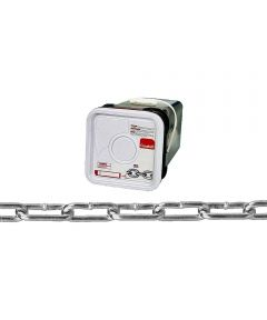Straight Link Coil Chain, 2/0, 520 lb, Low Carbon Steel (Sold Per Foot)