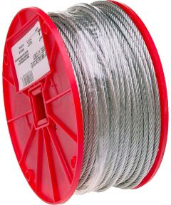 Extra Flexible Uncoated Aircraft Cable, 1/4 in. (Dia), 1400 lb (Sold Per Foot)
