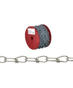 Double Loop Chain, NO 3, 90 lb, Low Carbon Steel (Sold Per Foot)