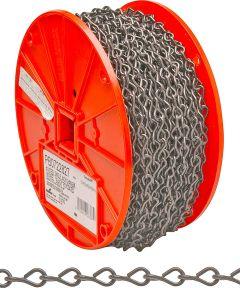 Single Jack Chain, NO 14, 16 lb, Low Carbon Steel (Sold Per Foot)