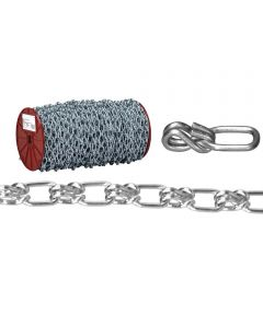 Lock Link Single Wrapped Loop Chain, 3/0, 405 lb, Low Carbon Steel (Sold Per Foot)