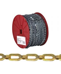 Safety Chain, 1/0, 35 lb, Brass (Sold Per Foot)
