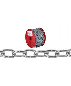 Passing Link Chain, 2/0, 450 lb, Low Carbon Steel (Sold Per Foot)