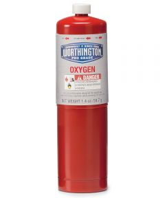 1.4 oz. Red Disposable Oxygen Torch Cylinder
