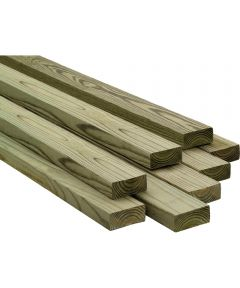 4 in. x 6 in. x 8 ft. Treated Douglas Fir Lumber S4S
