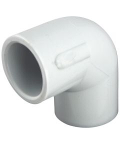 90 Degree 1/2 in. PVC Elbow, Slip x Slip, Schedule 40, 10 Pack