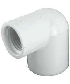 Reducing 90 Degree 3/4 in. x 1/2 in. PVC Elbow, Slip x FPT, Schedule 40, 10 Pack