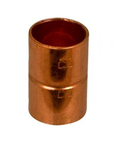 1/2 in. Copper Coupling with Stop, C x C, Bag of 10