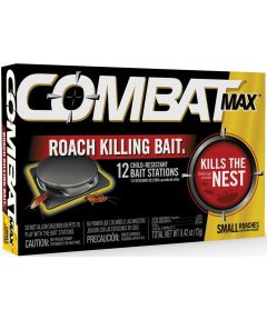Combat MAX Small Roach Killer Bait, 12 Stations