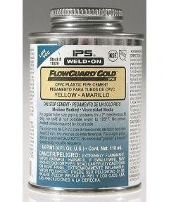 1/2 Pint Weld-On FlowGuard Gold Yellow VOC Cement