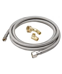 3/8 in. x 1/2 in. x 48 in. Braided Stainless Steel Supply Line