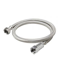 3/8 in. x 1/2 in. FIP x 16 in. Braided Stainless Steel Faucet Supply