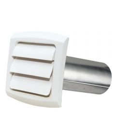 4 in. White ProVent Louvered Exhaust Cap