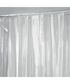 72x72 Inch Vinyl Shower Curtain Liner with Metal Grommets, Clear Color