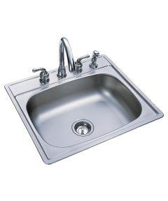 7 in. Stainless Steel Single Bowl Topmount Sink
