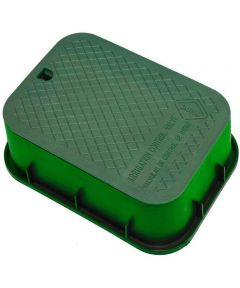 12 in. x 17 in. x 6 in. Deep Rectangle Valve Box with Green Body & Green Lid