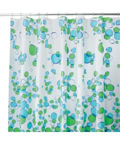 Blue & Green Bubblz Shower Curtain
