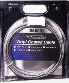 Pre-Cut Aircraft Cable, 3/16 - 1/4 in. (Dia) x 50 ft. (L), 740 lb