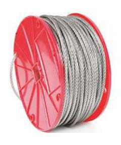 Aircraft Cable, 1/8 in. (Dia), 350 lb (Sold Per Foot)