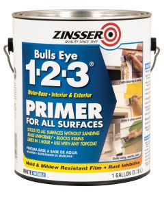 1 Gallon Zinsser Bulls Eye 1-2-3 Water-Base White Primer