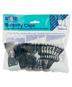 Black Shade Fabric Butterfly Clips 20 Count