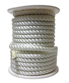 5/8 in. White Nylon Wellington Twisted Rope (Sold Per Foot)