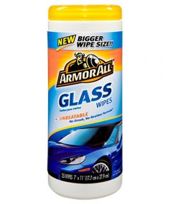 Armor All Glass Wipes, 25 Count