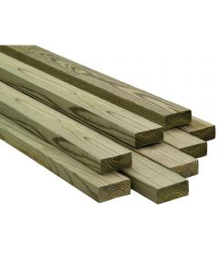 2 in. x 4 in. x 8 ft. #2/Btr Premium Treated Douglas Fir Lumber S4S