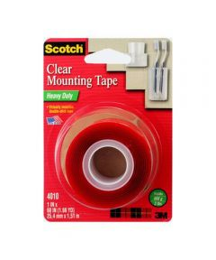 Scotch Heavy Duty Clear Mounting Tape 1 in. x 60 in.