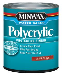 1 Qt Clear Gloss Polycrylic Protective Finish