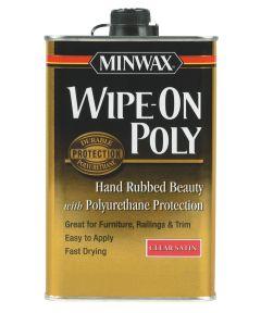 1 Quart Satin Finish Wipe-On Polyurethane Finish