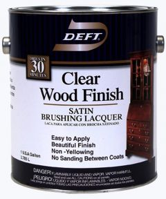 1 Gallon Satin Clear Wood Finish Brushing Lacquer