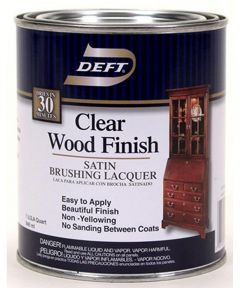 1 Quart Satin Clear Wood Finish Brushing Lacquer