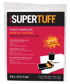 9 ft. x 12 ft. 4MM SuperTuff Heavyweight Plastic Drop Cloth
