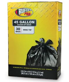 Ruffies 45 Gallon Jumbo Black Trash Bags 30 Count