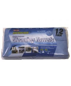 14 in. x 14 in. Microfiber Cleaning Towels, 12 Pack
