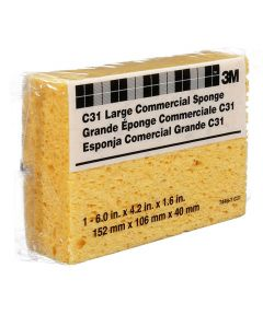 6 in. x 4.25 in. x 1.6 in. Large Yellow Commercial Sponge