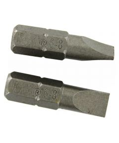 1 in. Steel Slotted Insert Bit Pack 2 Count