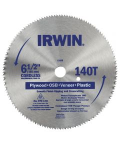 6-1/2 in. 140 Tooth Steel Circular Saw Blade