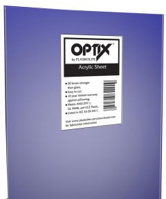 30 in. x 30 in. x 0.100 in. Acrylic Sheet Safety Glazing