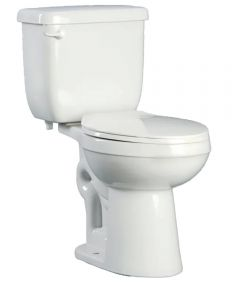 ProFlo High-Efficiency Toilet To Go,  Round Front, 1.28 GPF