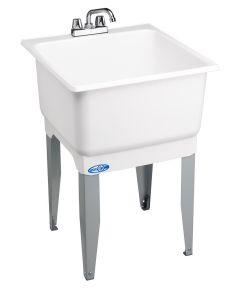 Utilatub Combo Economy Laundry/Utility Tub, White