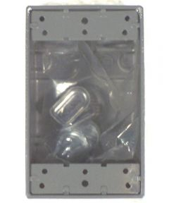 Gray Single Gang 5 Hole Weatherproof Box with Lugs