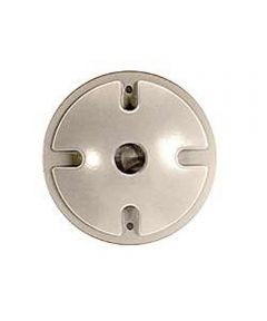 4 in. White Single Outlet Weatherproof Round Lampholder