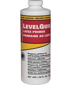 LevelQuik Concrete Bonding Latex Primer, 1 qt Bottle, Liquid, White