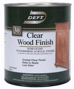 1 Quart Semi Gloss Waterborne Clear Wood Finish