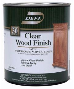 1 Quart Satin Waterborne Clear Wood Finish