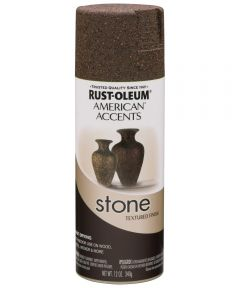 American Accents Stone Spray Paint, Mineral Brown